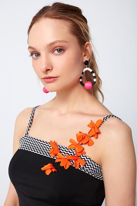 Badpakjurk met bloemen applicatie Elif Boutique 2